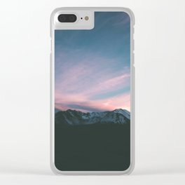 Mount Saint Helens III Clear iPhone Case