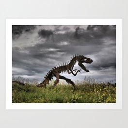 Steel T-Rex Art Print