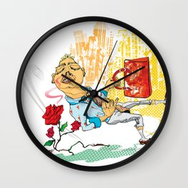 """""""Take time to smell the roses."""" Wall Clock"""
