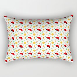 Pokémon candy and pokéballs Rectangular Pillow
