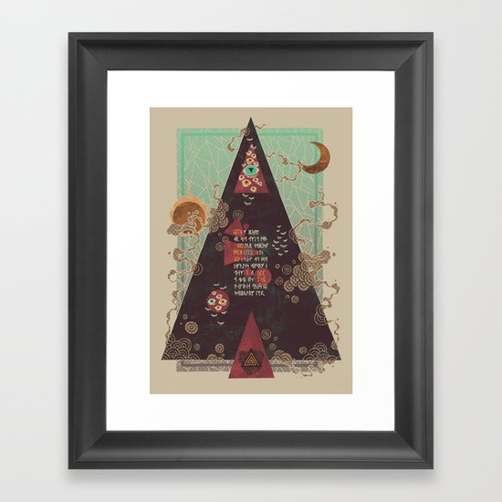 Coded Framed Art Print