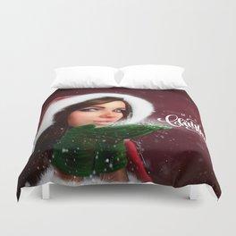 Lady Christmas Duvet Cover