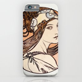 Alphonse Maria Mucha - Stained glass window for the facade of the Fouquet boutique iPhone Case