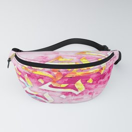 Modernized Arabic Calligraphy (Pink/Yellow) Fanny Pack