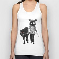 westie Tank Tops featuring out for a walk by Seamless