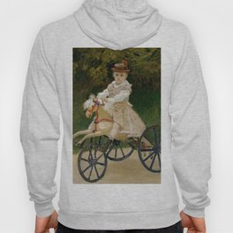 "Claude Monet ""Jean Monet (1867–1913) on His Hobby Horse"" Hoody"