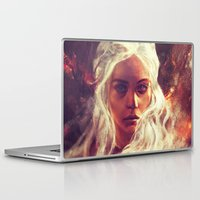 daenerys targaryen Laptop & iPad Skins featuring Fireheart by Alice X. Zhang