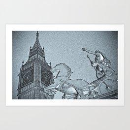 Big Ben And Boadicea Art Print