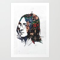 dreamer Art Prints featuring Dreamer by Alex Cherry