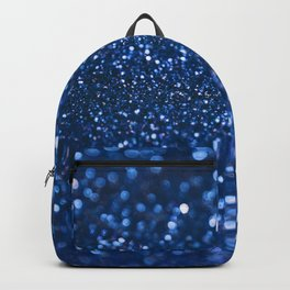 Blue Glamorous Sequins Backpack