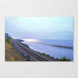 Alaska Railroad at Beluga Point Canvas Print