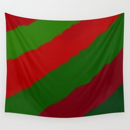 Red and Green Christmas Gift Wall Tapestry