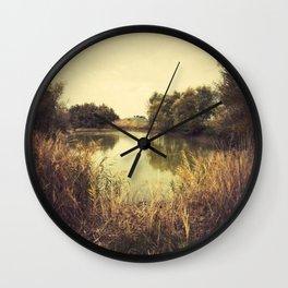 Small lake Wall Clock