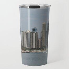 Chicago Shoreline, Skyline, Lake Michigan Travel Mug