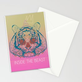 inside the beast Stationery Cards