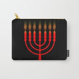 Menorh With Seven Candles Carry-All Pouch