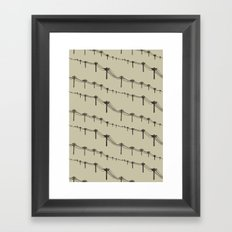 Metal Trees Framed Art Print