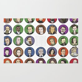 Portraits of Important Scientists Rug