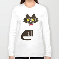 preppy Long Sleeve T-shirts featuring Fitz - Preppy cat by Picomodi