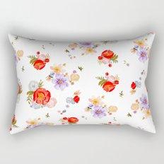 RED FLORAL Rectangular Pillow