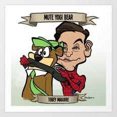 Mute Yogi Bear (Tobey Maguire) Art Print