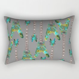 Guitar 1 Pattern - Dark Rectangular Pillow