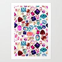 gem Art Prints featuring GEM by Liz Haywood