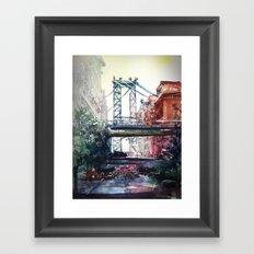 New York - Under the bridge Framed Art Print