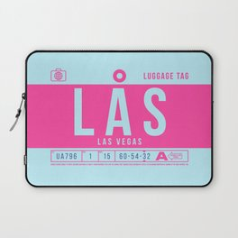 Luggage Tag B - LAS Las Vegas USA Laptop Sleeve