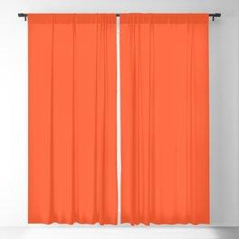 Persimmon - Orange Bright Tangerine Solid Color Blackout Curtain