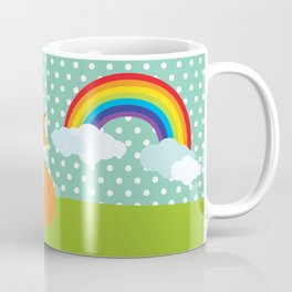 Fox, Rainbow , nursery decor , children gift, birthday gift Coffee Mug