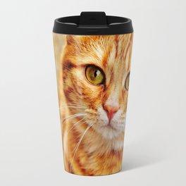 Cute red cat Travel Mug