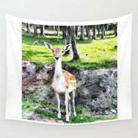 bambi Wall Tapestries featuring Bambi by The Miniatures