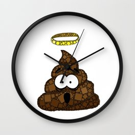 Holy Crap! - Bathroom Humor - Poop - 57 Montgomery Ave Wall Clock