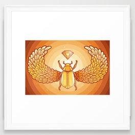 The Golden Scarab Framed Art Print