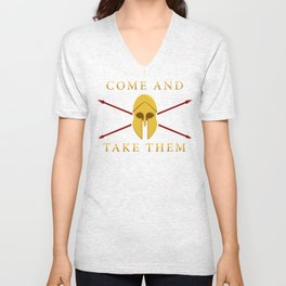 ΜΟΛΩΝ ΛΑΒΕ - Come and Take Them Unisex V-Neck