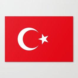 Turkey Flag Canvas Print