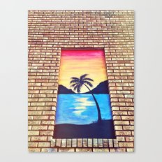 Window to Paradise Canvas Print