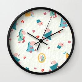 Loezelot everywhere Wall Clock