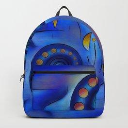 Grefenorium - blue spiral world Backpack