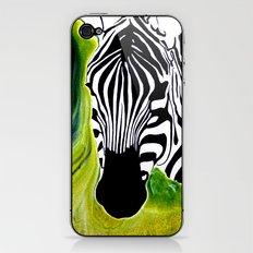 Green Black and White Zebra iPhone & iPod Skin