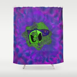 Endless Possibilites Space Rock Logo Shower Curtain
