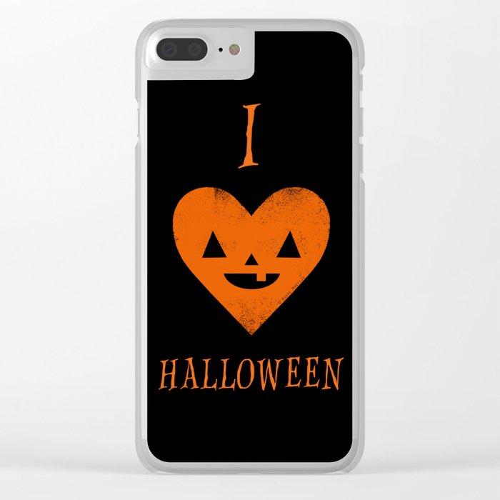 I Heart Halloween Clear iPhone Case