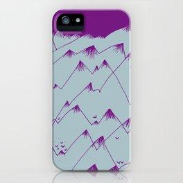 Purple Mountains iPhone Case