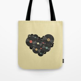 Heart of a Vinyl Lover Tote Bag