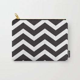 Black & White Chevron Carry-All Pouch