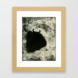 Minotaur in Hiding Framed Art Print