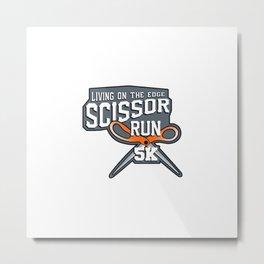 Scissor Run 5K Metal Print
