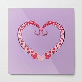 Tentacle Valentine Metal Print