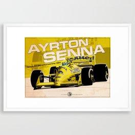 Ayrton Senna - F1 1987 Framed Art Print